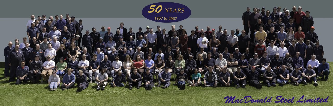 MacDonald Steel employees group photo